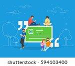 testimonials quote symbol... | Shutterstock .eps vector #594103400