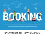 online booking vector... | Shutterstock .eps vector #594103433