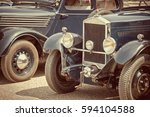 antique cars  sepia vintage...   Shutterstock . vector #594104588
