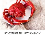 Small photo of Shellfish plate of crustacean seafood with fresh red crab, lobster on vintage background