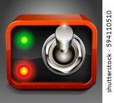control dashboard. realistic...   Shutterstock .eps vector #594110510