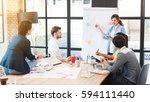 group of five multi generation... | Shutterstock . vector #594111440