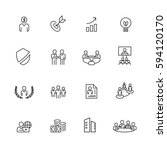 business and office set icons... | Shutterstock .eps vector #594120170