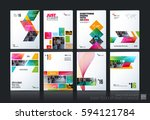 business vector set. brochure... | Shutterstock .eps vector #594121784