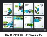 business vector set. brochure... | Shutterstock .eps vector #594121850