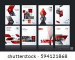 business vector set. brochure... | Shutterstock .eps vector #594121868