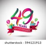 49th anniversary celebration... | Shutterstock .eps vector #594121913