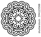 mandala round ornament pattern  ... | Shutterstock .eps vector #594125588