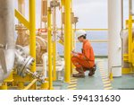 mechanical engineer inspector... | Shutterstock . vector #594131630