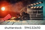 retro film production... | Shutterstock . vector #594132650