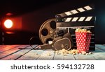 retro film production... | Shutterstock . vector #594132728