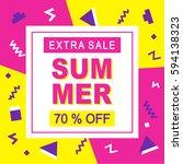 summer sale modern banner... | Shutterstock .eps vector #594138323