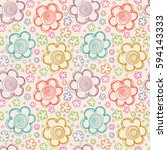 vector seamless pattern with... | Shutterstock .eps vector #594143333