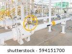 industrial zone gas metering... | Shutterstock . vector #594151700