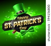 happy st. patrick's day... | Shutterstock .eps vector #594156800