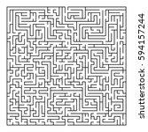 complex maze puzzle game   2  ... | Shutterstock .eps vector #594157244