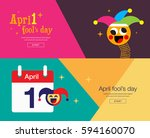 april fool's day  banner design ... | Shutterstock .eps vector #594160070