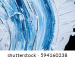 Abstract blue  oil painted background ,mixing colored paints