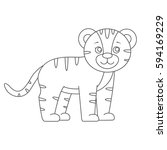 tiger for coloring book... | Shutterstock .eps vector #594169229