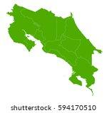 costa rica green map | Shutterstock .eps vector #594170510