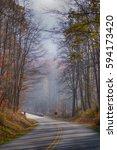 blue ridge parkway | Shutterstock . vector #594173420