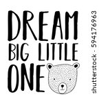 dream big little one typography ... | Shutterstock .eps vector #594176963