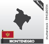 montenegro map and flag with...   Shutterstock .eps vector #594180554
