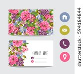business card template  design... | Shutterstock .eps vector #594184844