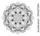 mandala. vector ethnic oriental ...   Shutterstock .eps vector #594187304