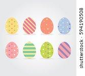easter eggs vector illustration.   Shutterstock .eps vector #594190508