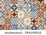 texture of ceramic tiles in... | Shutterstock . vector #594190910