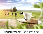 milk and free space  | Shutterstock . vector #594194570