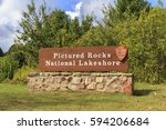 pictured rocks national... | Shutterstock . vector #594206684