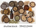 herbal medicine for anxiety...   Shutterstock . vector #594212444