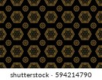 seamless pattern with luxury... | Shutterstock . vector #594214790