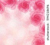 pink flower background | Shutterstock .eps vector #594218696