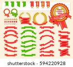collection of decorative design ... | Shutterstock .eps vector #594220928