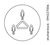 people network icon | Shutterstock .eps vector #594227006