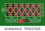 casino roulette table... | Shutterstock .eps vector #594227630