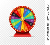 wheel of fortune lottery luck... | Shutterstock .eps vector #594227660