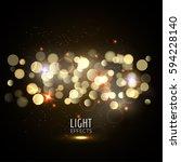blurred bokeh glitter and glow... | Shutterstock .eps vector #594228140