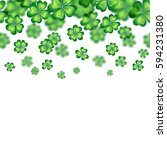 saint patrick's day border. ... | Shutterstock . vector #594231380