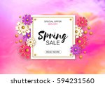 big sale  illustration banner.... | Shutterstock . vector #594231560