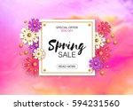 big sale  illustration banner....   Shutterstock . vector #594231560