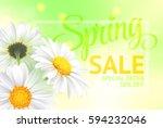 springr sale concept. summer...   Shutterstock . vector #594232046