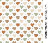 hearts pattern. valentines day... | Shutterstock .eps vector #594233774