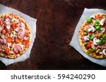 Two Fresh Italian Pizzas With...