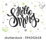 vector hand lettering greetings ...   Shutterstock .eps vector #594242618