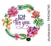 wildflower succulentus flower... | Shutterstock . vector #594246740