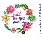 wildflower succulentus flower... | Shutterstock . vector #594246944